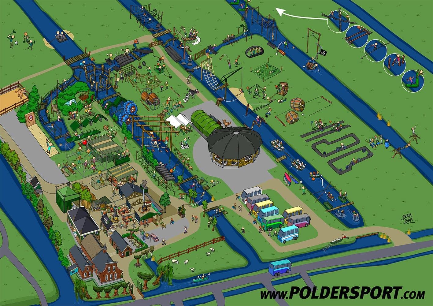 Poldersport plattegrond